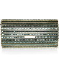 Elie Saab Crystal Embellished Clutch - Lyst