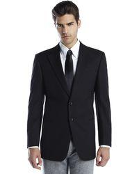 Armani Black Two-button Woven Sport Coat - Lyst