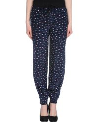 Lulu & Co Planetprint Silk Pants - Lyst
