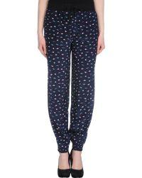 Lulu & Co | Planet Print Silk Pants | Lyst