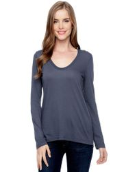 Splendid Light Jersey Ls Scoop Top - Lyst