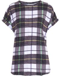 Camilla & Marc Glider Check-Print T-Shirt - Lyst