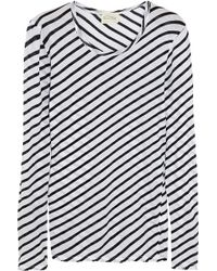 American Vintage Kira Valley Striped Cottonjersey Top - Lyst