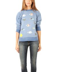 Wildfox Fish Sweatshirt - Lyst
