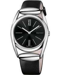 Gucci Ladies Horsebit Silver-tone  Leather Watch - Lyst
