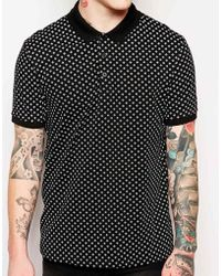 Asos Polo Shirt with Ditsy Print - Lyst