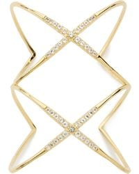 Elizabeth And James Vida Cuff Bracelet Yellow Gold - Lyst