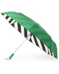 Kate Spade - Striped Lining Travel Umbrella - Lyst