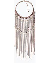 Zara Gold Chain Choker - Lyst
