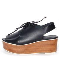 Tibi Malone Nappa Sandals black - Lyst