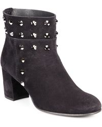 Pedro Garcia Xander Studded Suede Ankle Boots - Lyst
