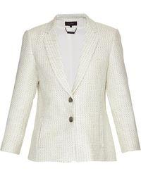 Wes Gordon - Celadon Tweed Blazer - Lyst