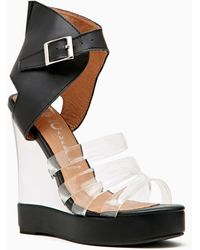 Nasty Gal Jeffrey Campbell All Will Be Revealed Wedge Sandal - Lyst