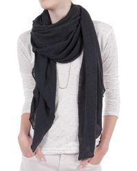Inhabit Black Linen Shawl - Lyst