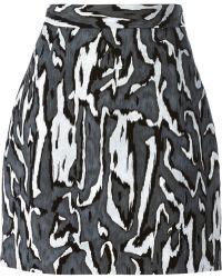 Proenza Schouler Tonal Flock Skirt - Lyst