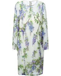 Dolce & Gabbana Wisteria-Print Dress - Lyst