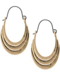 Lucky Brand - Heritage Holiday Elongated Hoop Earrings - Lyst