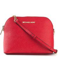 Michael Kors Cindy Large Calf-Leather Cross-Body Bag - Lyst