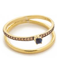 Tai | Thin Double Band Ring | Lyst