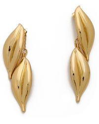 Rachel Zoe - Safari Double Leaf Drop Earrings - Lyst
