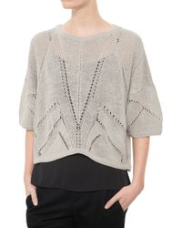 Helmut Lang Fractured Lace Short Sleeve black - Lyst