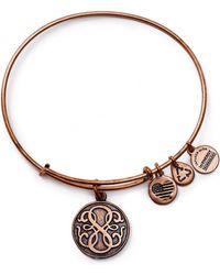 ALEX AND ANI - Path Of Life Rose Gold Tone Wire Bangle - 100% Bloomingdale's Exclusive - Lyst