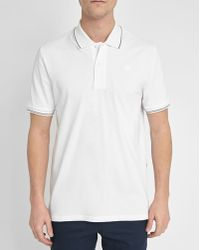 G-Star RAW | White Trim Mondolo Polo Shirt | Lyst