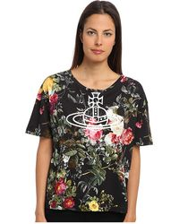 Vivienne Westwood Anglomania Round Neck Floral Orb Tshirt - Lyst
