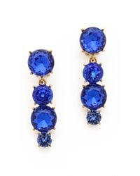 Oscar de la Renta Jewel Drop Earrings Royal - Lyst