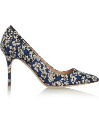 J.Crew Floralprint Twill Pumps - Lyst