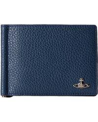 Vivienne Westwood Saffiano Money Clip Wallet - Lyst