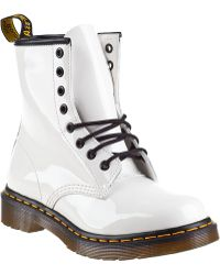 Dr. Martens 1460 Lace-Up Boot White Patent - Lyst