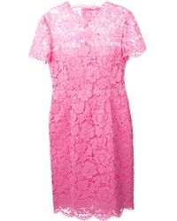 Valentino Lace Dress - Lyst