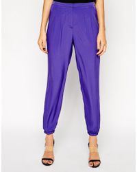 Asos Pants with Elastic Ankle Detail - Lyst