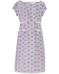 Tory Burch Blue Carlan Dress - Lyst