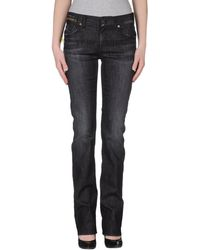 Emporio Armani Black Denim Pants - Lyst