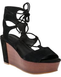 Rebecca Minkoff   Cady Lace-Up Suede Sandals   Lyst