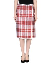 Celine 34 Length Skirt - Lyst