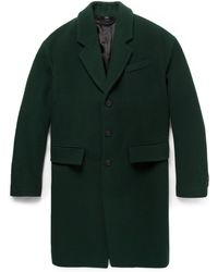 Burberry Prorsum Wool and Cashmereblend Overcoat - Lyst
