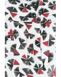 Anna Sui Deco Fan Printed Shorts multicolor - Lyst