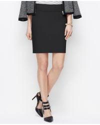 Ann Taylor Petite Stretch Cotton Mini Skirt - Lyst