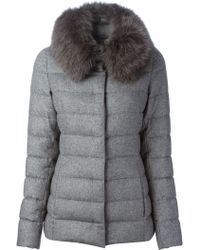 Herno Trimmed Collar Padded Jacket - Lyst