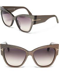 Tom Ford Anoushka Cat Eye Sunglasses - Lyst