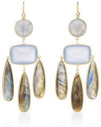 Kothari - Blue Chalcedony Chandelier Earrings - Lyst