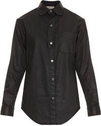 Current/Elliott The Coated Prep School Shirt - Lyst