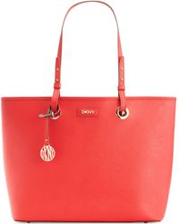 DKNY Bryant Park Saffiano Leather Shopper - Lyst