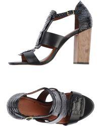 Elizabeth And James Black Highheeled Sandals - Lyst