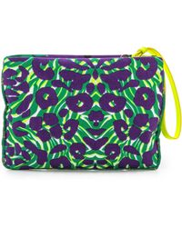 M Missoni - Camouflage Canvas Pouch Purple - Lyst