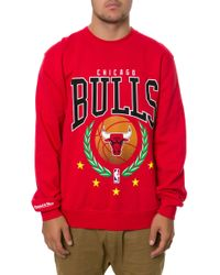 Mitchell & Ness The Chicago Bulls Laurel Sweatshirt - Lyst