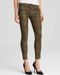 Current/Elliott Jeans  The Soho Zip Stiletto in Army Dirty Paws - Lyst